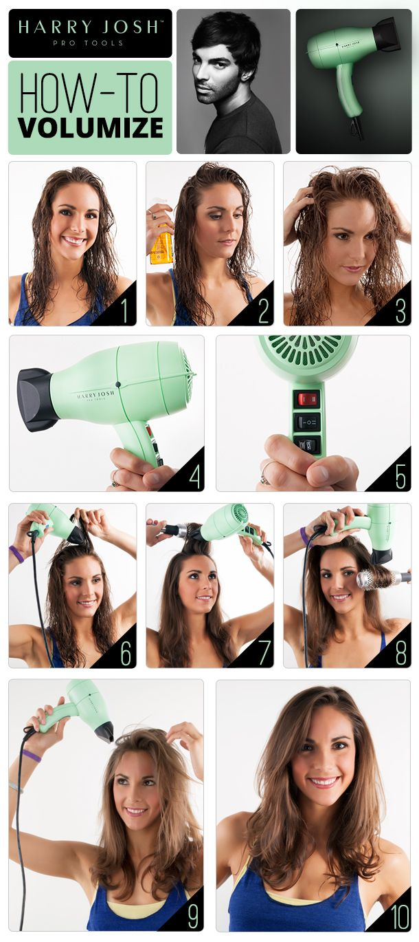 How to volumize fine hair with Harry Josh Pro Tools