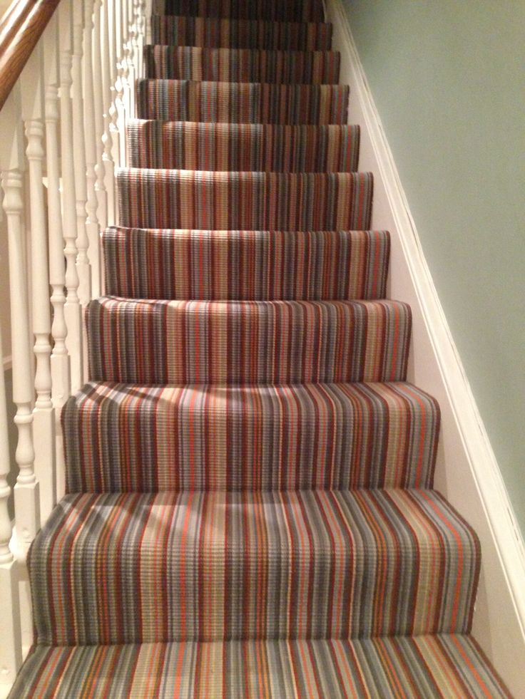 Hall with stripy carpet!