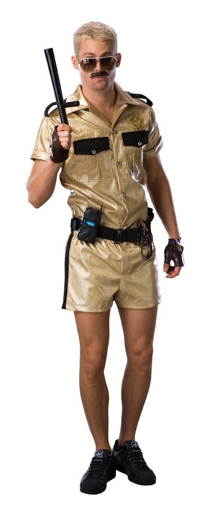 Lt. Dangle Deluxe Shirt, shorts, badge and utility belt. Gloves, Glasses, and Accessories Sold Seperately.