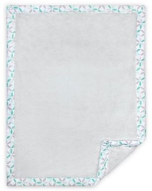 Just Born Classic Collection Tribeca Cuddle Plush Blanket in Grey