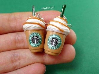 Mini frapuccino earrings.