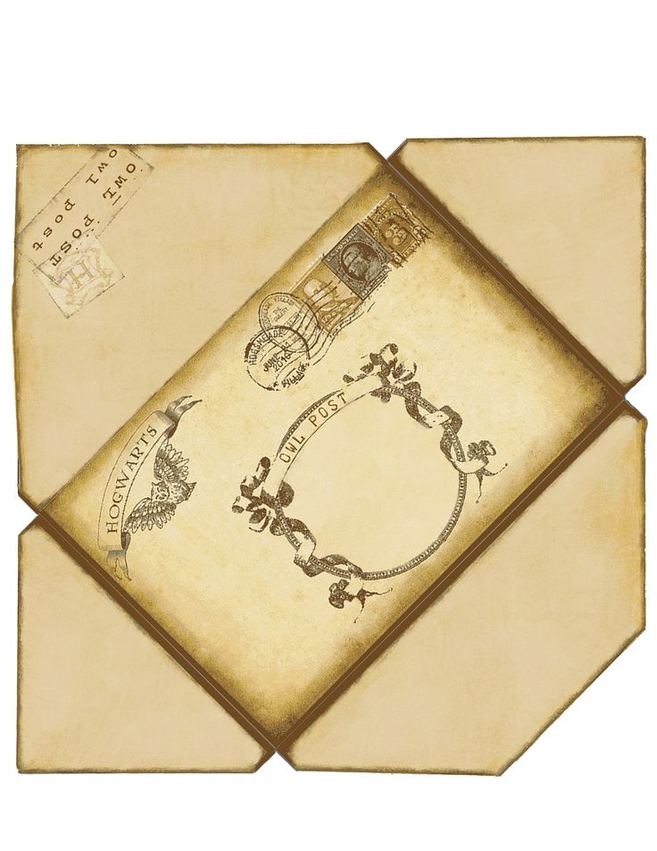 harry potter envelope if printed on 8 1 2 x 11 this will With harry potter envelope template