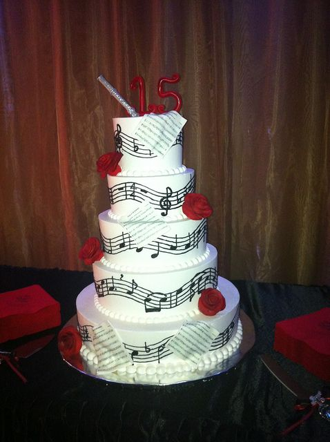 quinceanera cakes | Music Quince Cake | Flickr - Photo Sharing!