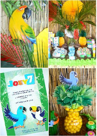 Rio Birthday Party Printables and DIY decorations
