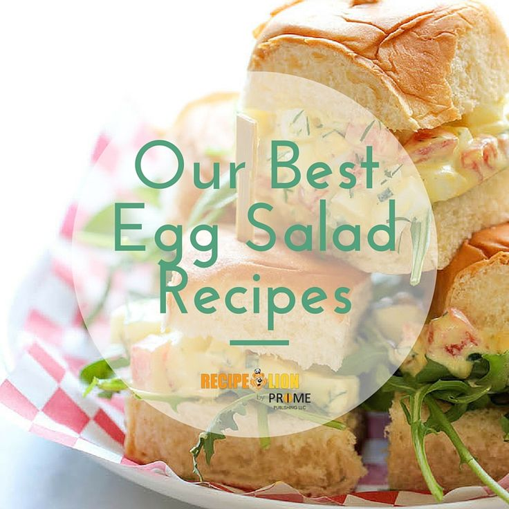 12 Easy Egg Salad Recipes Whether You Eat Them In A Sandwich Or As A