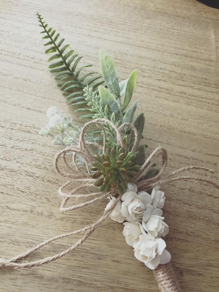 Handmade rustic  greenery wedding pen