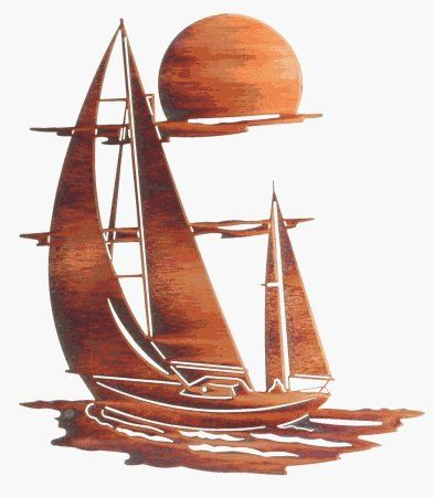 """24"""" Lazart Metal Wall Art Wall Decor - Sunset Sails Sailboat by Laser Wall Art & Home Décor. $116.96. Easy hang hooks located on the back of the art piece. Laser Cut Metal Wall Art. Made in the U.S.A. LAZART metal art is crafted from cold-rolled American steel using the highest degree of laser cutting technology combined with fine art from talented artisans. Proudly made in the U.S.A There are small and well hidden tabs on the back of the wall art to"""