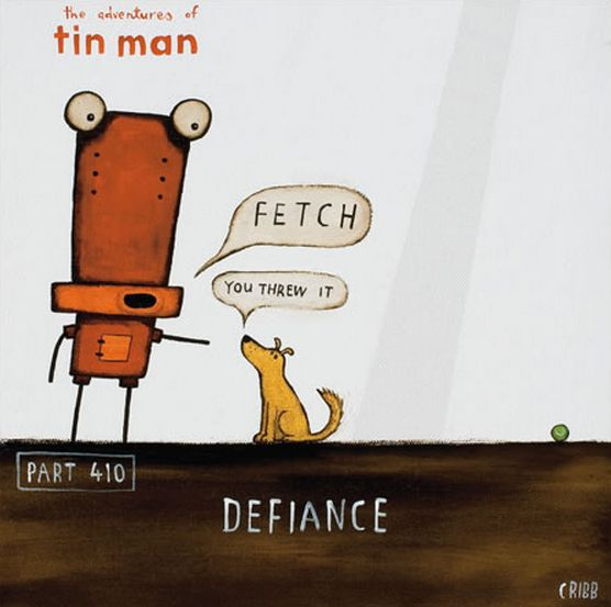 Doggy defiance... Notecard by Tony Cribb - imagevault.co.nz