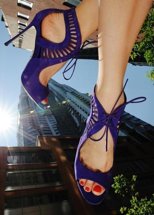 Blue Stilettos by Sergio Rossi.