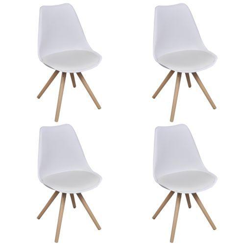 4x Kunstleder Esszimmerstuhl Stuhl Stühle Retro Design Lehnstuhl Küchenstuhl #Ssparen25.com , sparen25.de , sparen25.info