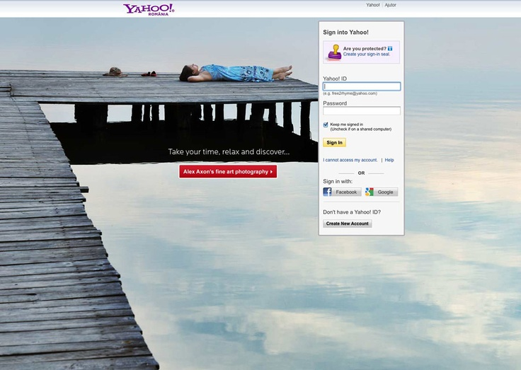 The Yahoo! Login Page Creative Competition