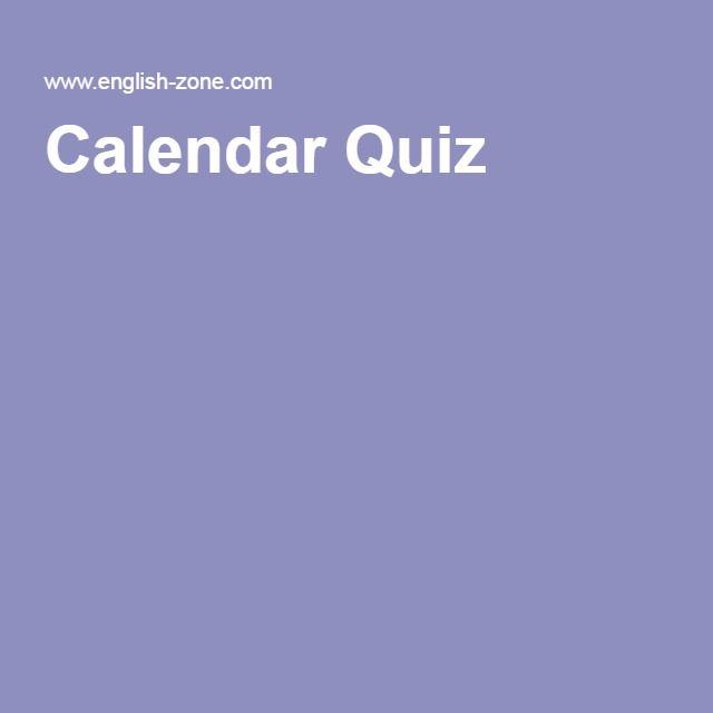 Calendar Quiz