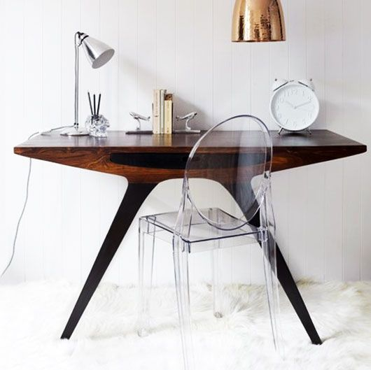 Spectacular as a desk or vanity, and unencumbered by the ghost chair.