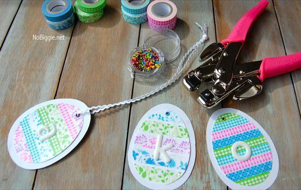 Washi tape Easter Crafts from Nobiggie.net - via @babycenter #Eastercrafts #easter #washitape