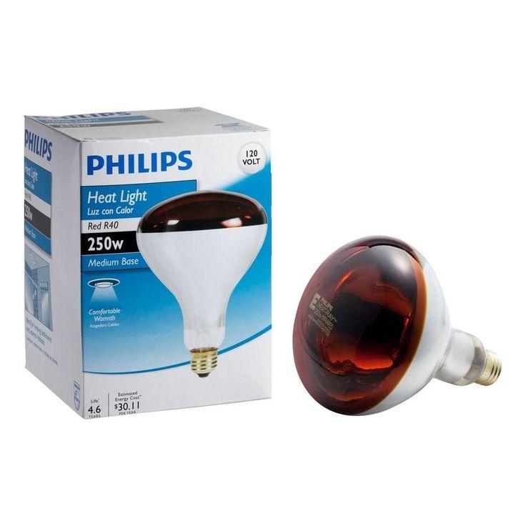 Red Heat Lamp Light Bulb