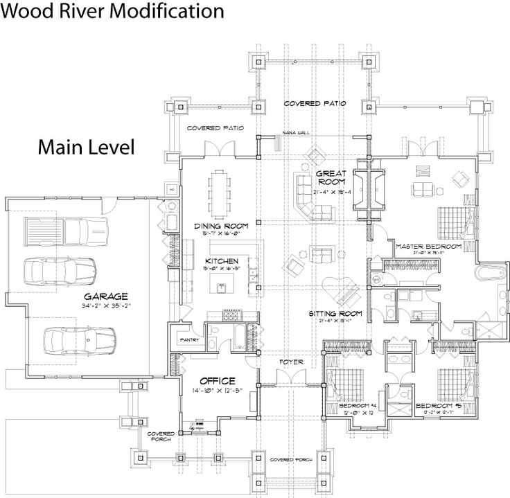 the wood river features impressive timber frame work a custom trellis and outdoor living area and true craftsman style characteristics - Patio Style Dream Home Plans