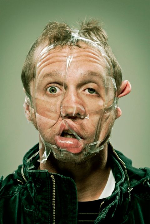 Scotch Tape by Wes Naman. fun.nee - but scary at the same time........!