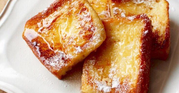 ★★★殿堂入りレシピ★★★つくれぽ4400件 食パンを卵液に浸して焼くだけ♪ ふわふわ美味しい 王道のフレンチトースト*