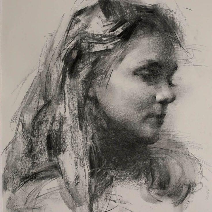 Casey Baugh | Рисование портретов, Рисунки углем, Создание