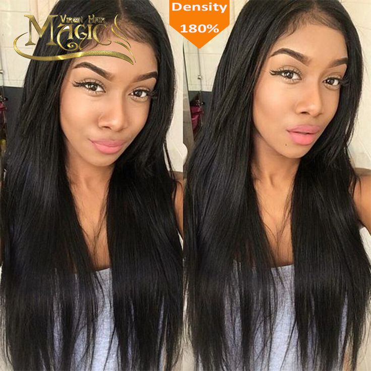 $155.00 (Buy here: http://appdeal.ru/dqli ) 7A Glueless full lace human hair wigs Malaysian Lace Front Human Hair Wigs for black women straight human hair wig for just $155.00