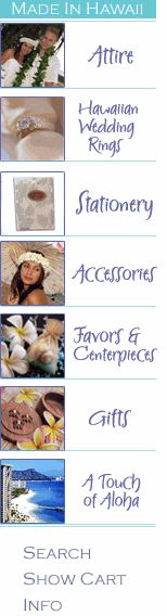 Hawaiian Wedding Centerpieces and Hawaiian Wedding Favors