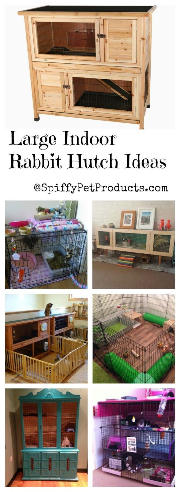 Spiffy Large Indoor Rabbit Hutch Ideas For Keeping Your Pet Rabbit Happy & Healthy!