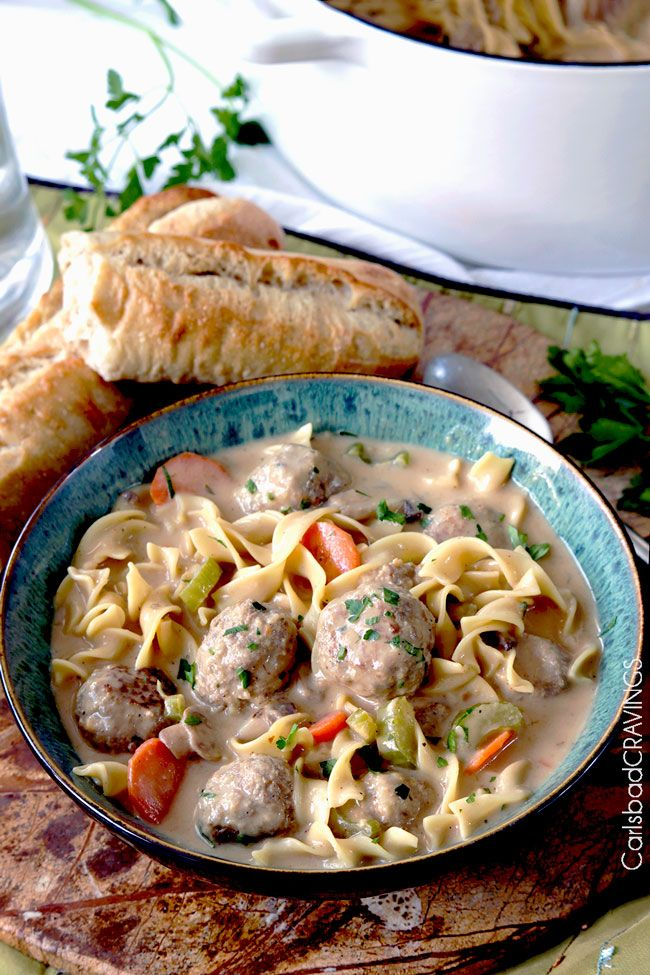 We're down with any soup that lets us eat meatballs. Get the recipe from Carlsbad Cravings.   - Delish.com