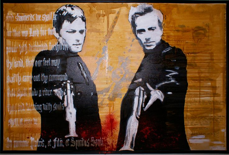 BOONDOCK SAINTS_1, on canvas by Marie Prokopek