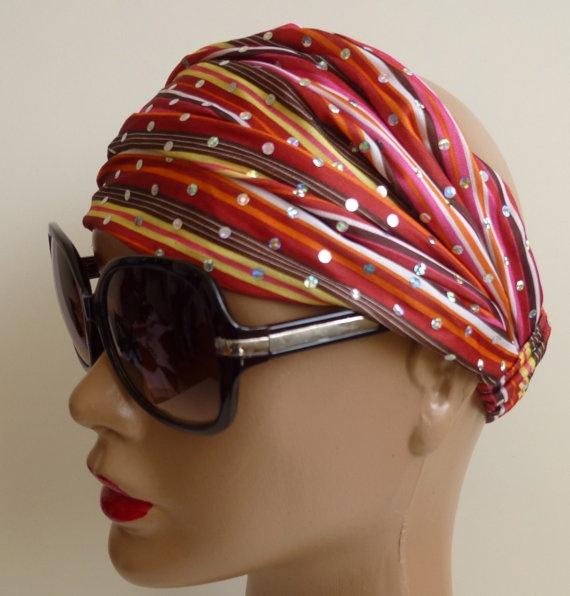 Bandana Stripes and Glitter Pretty multicolor by ShawlsandtheCity, $12.00