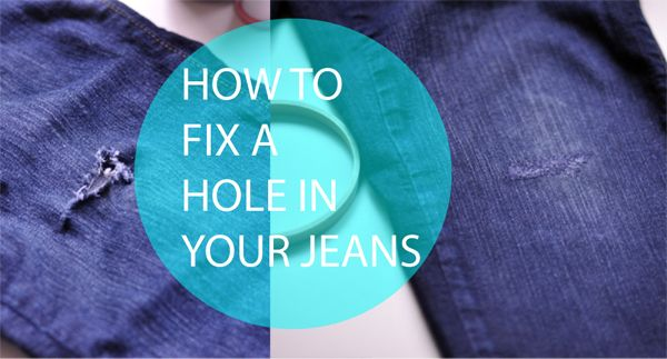 How to fix a hole in your jeans - no patch needed!