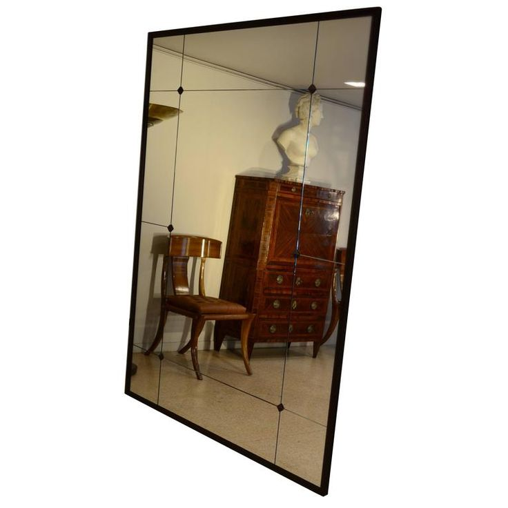 Industrial Iron Frame with Studs Mirror