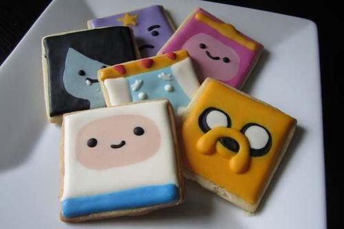 The Handmade Adventure Time Cookies with Royal Icing