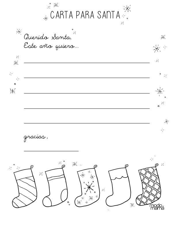 Querido Santa: ____________