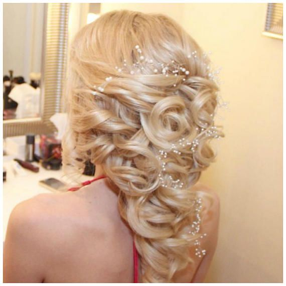 FREE SHIPPING for ALL ORDERS starting from 50EUR till 16th of November !!! Charming bridal hair vine rich in pearl beads. The wedding hair piece is a simple accessory to play with your wedding hair style. You can decorate long or short hairdo easily fixing the wedding hair