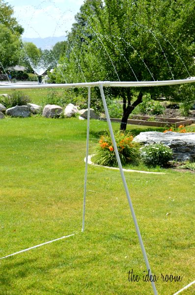 PVC Sprinkler for Summer fun!! via Amy Huntley (The Idea Room) #LowesCreatorAcosta Whitlow, Water Play, Ideas Room, Summer Day, Mcafee Lowescreator, Pvc Sprinkler, Pvc Pipes, Pvc Diy, Diy Sprinkler