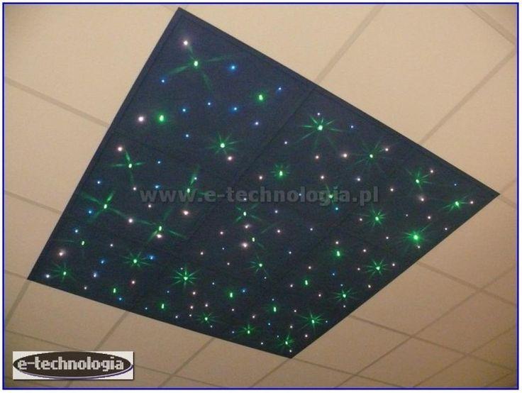 Oświetlenie dekoracyjne sufitu - gwiezdne niebo na płytach - gwieździste niebo na płytach - dekoracyjne niebo - oświetlenie sufitu niebo - oświetlenie led niebo