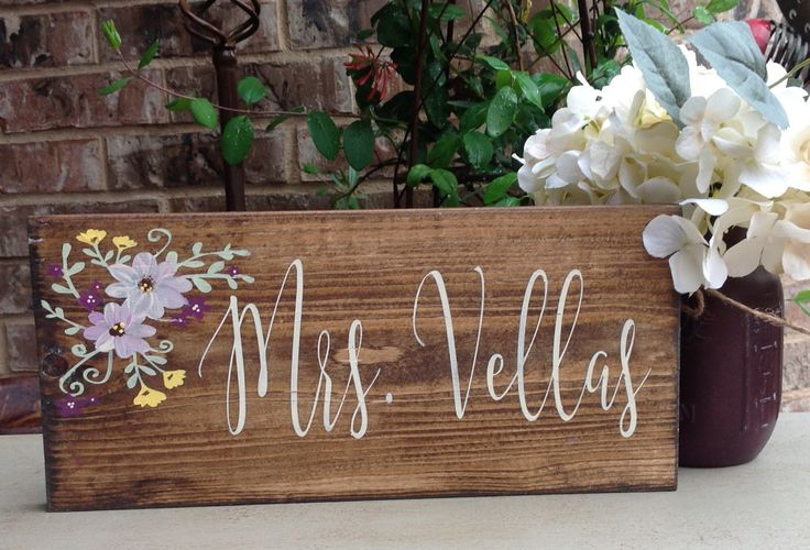 Teacher Gift, Teacher Name Sign, Teacher Appreciation, Hand Painted Sign, Custom…