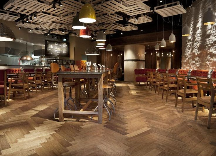 Burger Restaurant, Bluewater Shopping Centre, Kent, Henley Oak Emerald, Herringbone