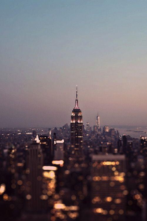 blurry lights in new york city