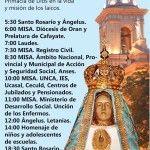 Solemnidades en honor a Nuestra Madre del Valle: Programa del jueves 16 de Abril de 2015