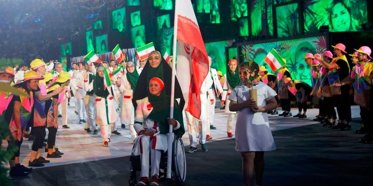 Zahra Nemati took up archery after her accident and was leading Iran's Olympic delegation eight years later.