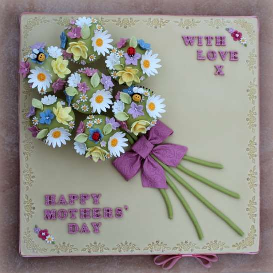 Mothers Day Cupcake Bouquet Board   Pretty Witty Cakes