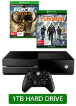 1TB Xbox One Console + 2 Games