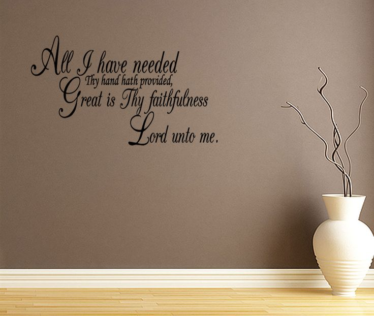 Details about all i have needed quote lettering vinyl wall for Living room quotes for wall