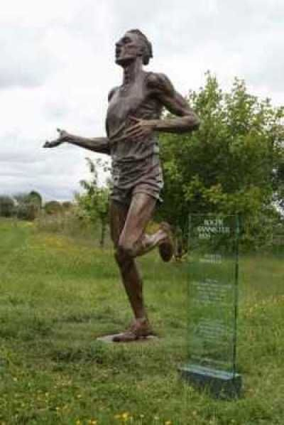 Bronze Sculptures of Champions #by #sculptor Carl Payne titled: 'Sir Roger Bannister' #art