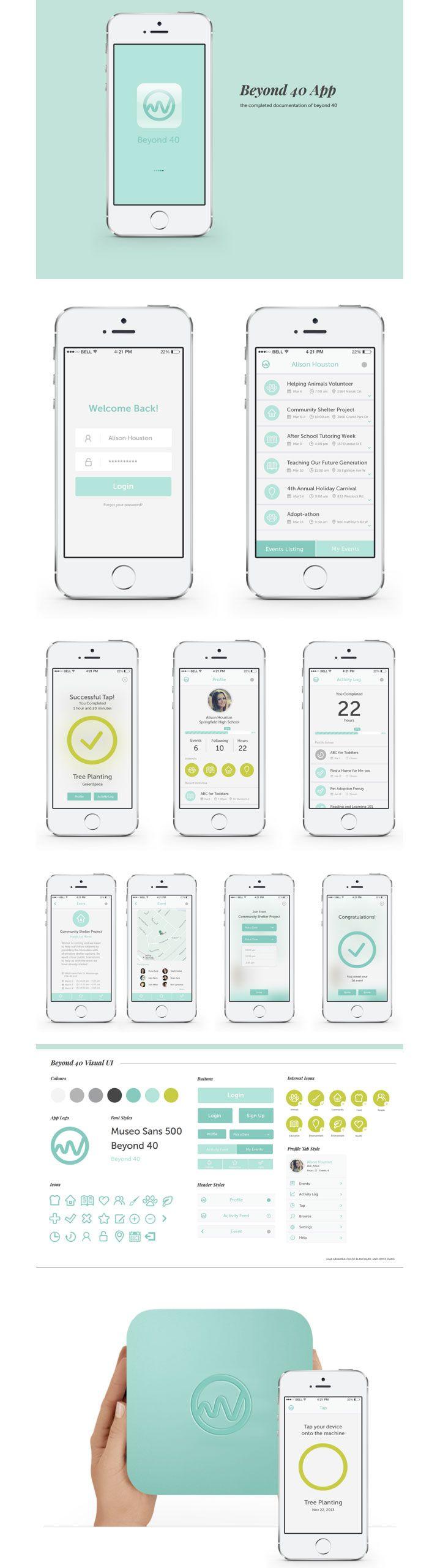 Beyond 40 App Design