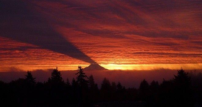 La poderosa sombra del monte Rainier