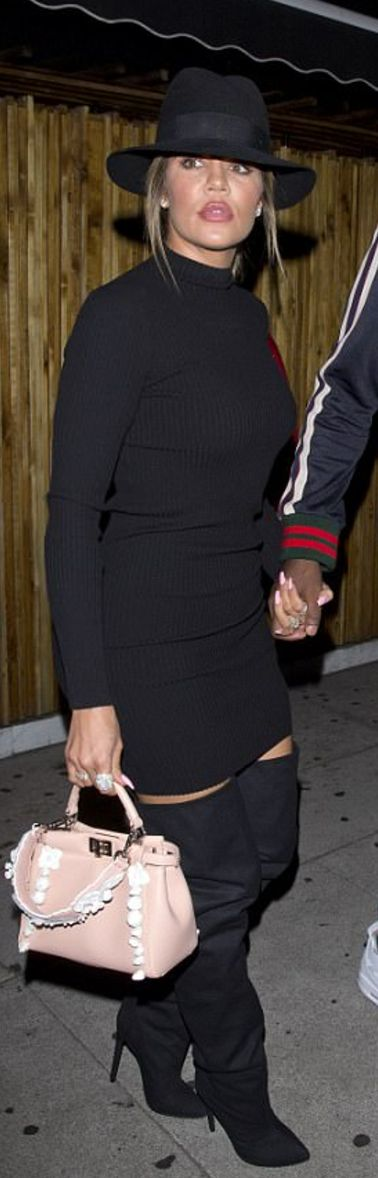 Khloe Kardashian wearing Fendi, Maison Michel and Wardrobe