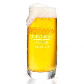 Heritage Wedding Personalised Rocks Beer Glass