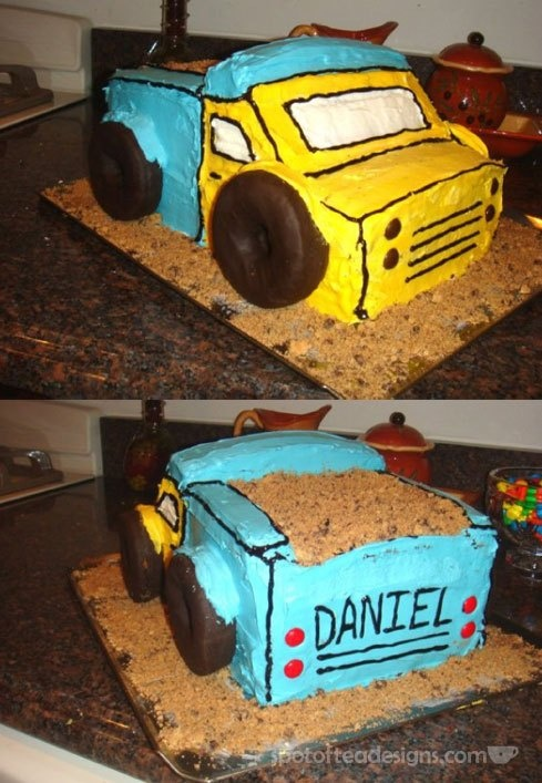 Dump Truck Cake Design : 17 Best images about B day cake ideas for Mason on ...
